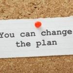 Change The Plan — Stock Photo