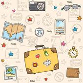 Travel pattern — Stock Vector