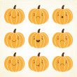 Cute halloween pumpkin — Stock Vector