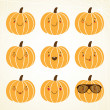 Happy halloween pumpkin — Vector de stock