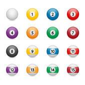 Pool balls — Stock Vector