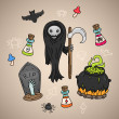 Dead Halloween - Stock Vector