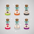 Sticker with potions — Stock Vector #12428580