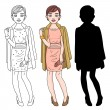 Fashion business - Stock Vector