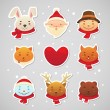 Christmas sticker - Stock Vector