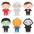 menino de Halloween — Vetorial Stock