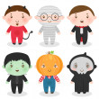 Royalty-Free Stock Imagen vectorial: Halloween boy