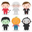 Halloween boy — Stock vektor