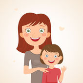 Mother and daughter — Stockvector