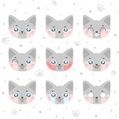 Kawaii smiley cat — Stock Vector