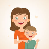 Mother and son — Stock Vector