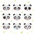 Stock Vector: Kawaii smiley panda
