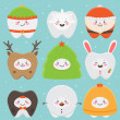 Royalty-Free Stock Vector Image: Christmas teeth