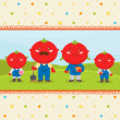 Royalty-Free Stock Vector Image: Farm card with Tomato family