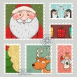 Christmas stamp - Stock Vector