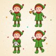Elf set — Stock Vector