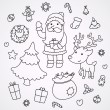 Christmas and New Year doodles - Stock Vector