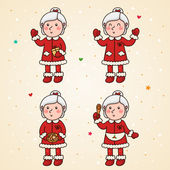 Mrs Claus set — Stock Vector