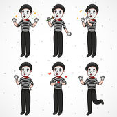 Mime (set) — Stock Vector