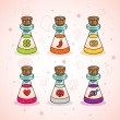 Royalty-Free Stock Vector Image: Love potions