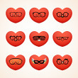 Fashion smiley (heart) — Vector de stock