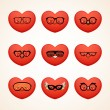Vector de stock : Fashion smiley (heart)