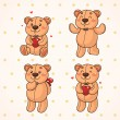 Teddy bear — Vector de stock #19350261