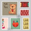 Royalty-Free Stock Vektorfiler: Romantic stamp