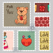 Royalty-Free Stock Vector: Romantic stamp