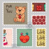 Romantic stamp — Stock Vector