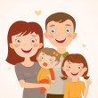 Royalty-Free Stock Imagen vectorial: Family with daughters