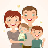 Family with sons — Stock Vector