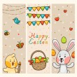 Easter vertical banners — Stock Vector