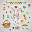 Sticker with the Easter bunny — Stock Vector #22524671