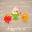 Cute Easter eggs — Vektorgrafik