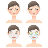 Face care — Stock Vector