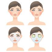 Pielęgnacja twarzy — Wektor stockowy