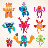 Monsters set — Stock Vector