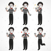 Romantic mime — Stock Vector