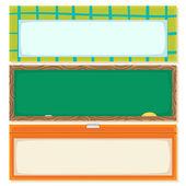 Volver a la escuela pancartas horizontales — Vector de stock