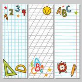 Notebook vertikale banner — Stockvektor
