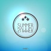 Bright summer card — Stock Vector