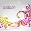 Abstract floral background yellow pink — Stock Vector #30925879