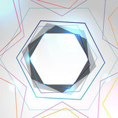 Abstract colorful background with hexagon — Stock Vector