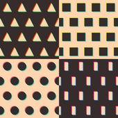 Set of geometric patterns — Stock Vector