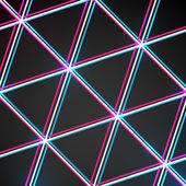 Abstrait noir triangulaire — Vecteur