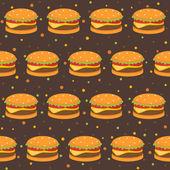 Wzór z hamburgery — Wektor stockowy