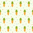 Stock Vector: Pattern with carrots