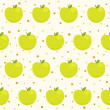 Pattern with apples — Stock Vector #34662563