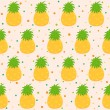 Stock Vector: Pattern with pineapple